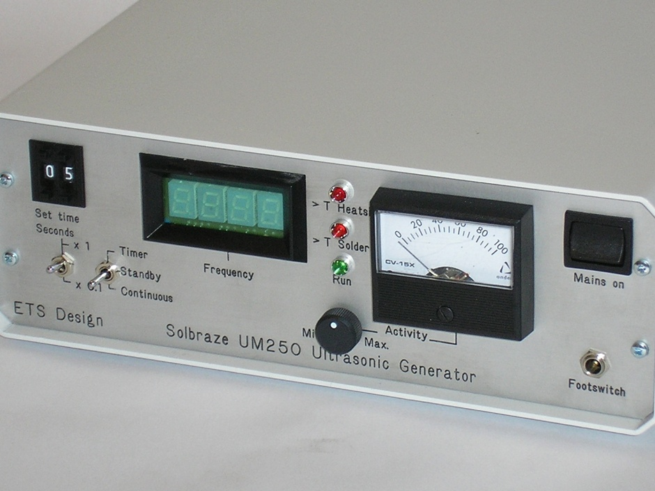Solbraze Ultrasonic Products : Ultrasonic Soldering System UM250 Generator